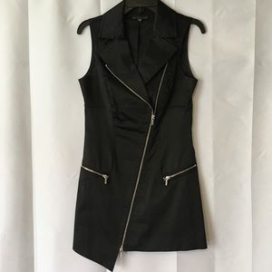 bebe design lab zipper sleeveless dress